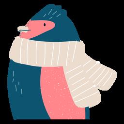 Winter penguin illustration