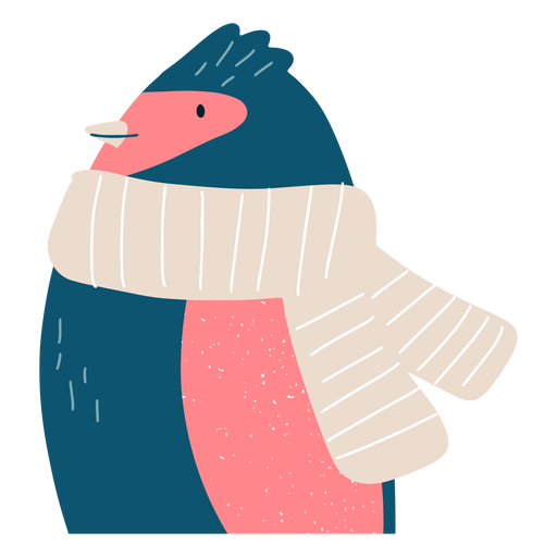 Winter penguin illustration Transparent PNG