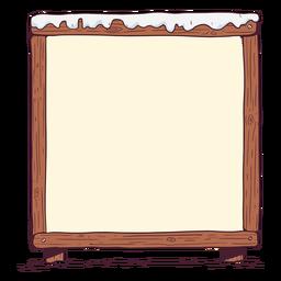 Ilustração de quadro branco de inverno