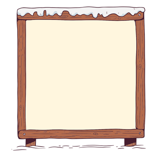 Winter whiteboard illustration