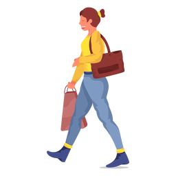 Mulher comprando personagem