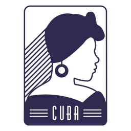 Woman cuba design side view