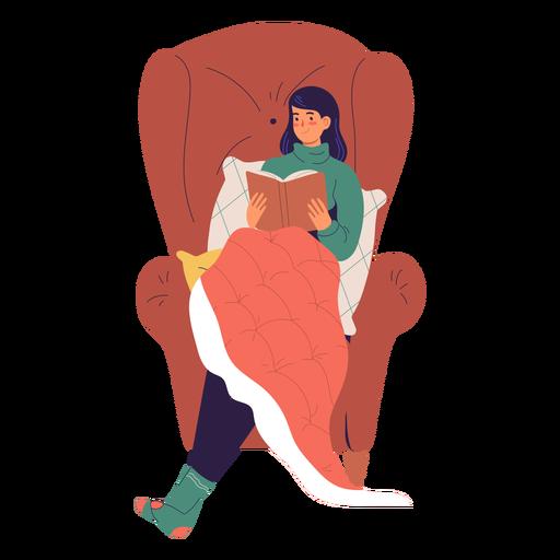 Mujer leyendo un personaje de libro