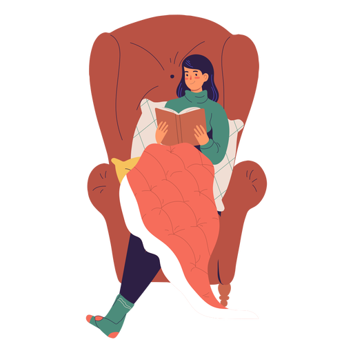 Woman reading a book character Transparent PNG