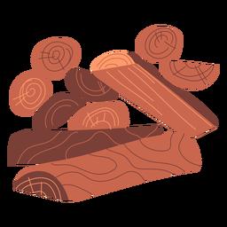 Diseño de ilustración de madera