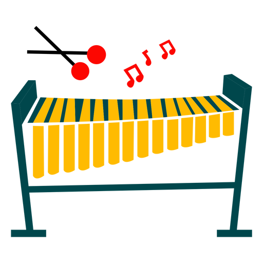 Xylophone instrument illustration