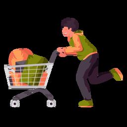 Carrinho de compras de menino