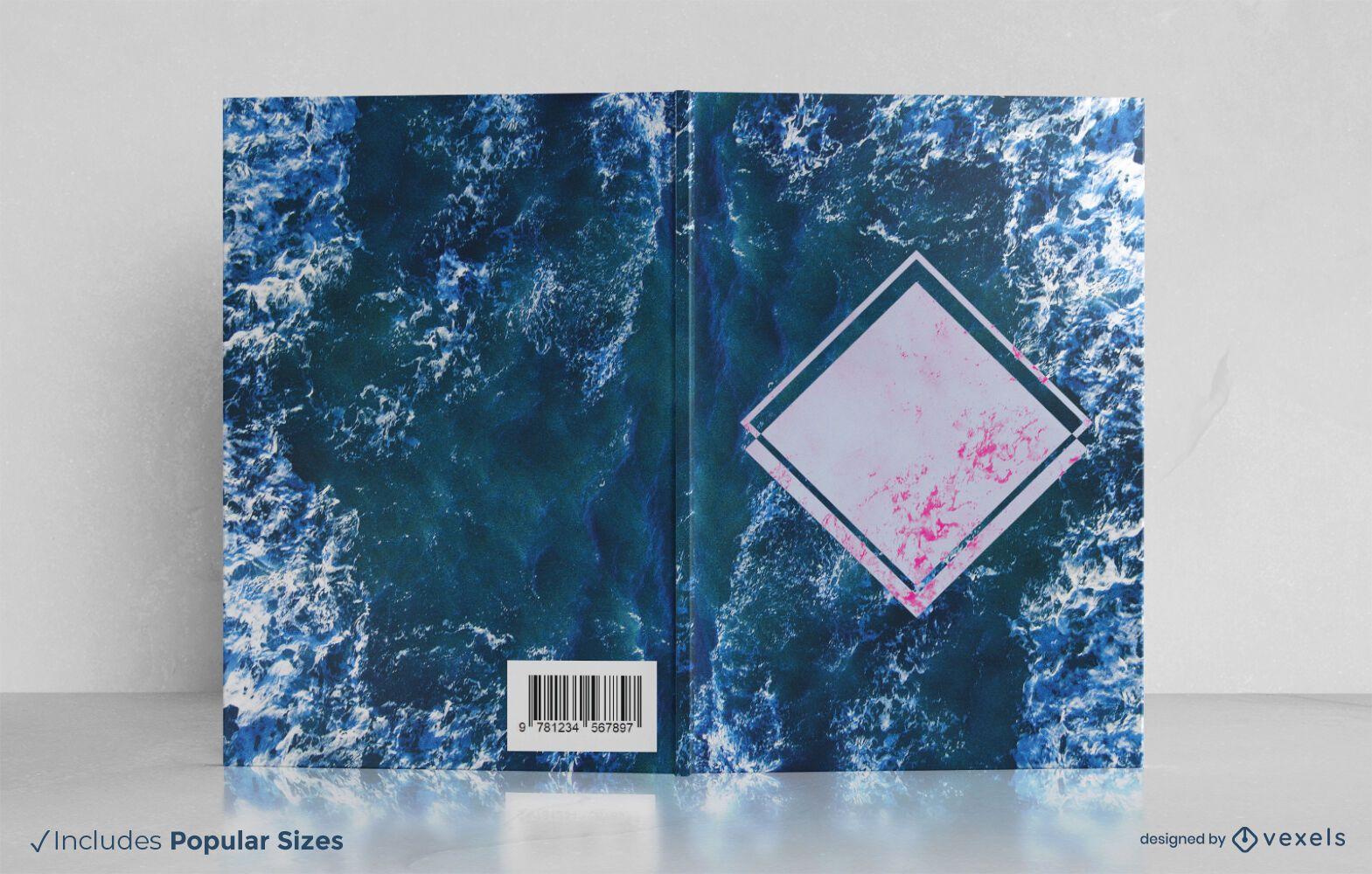 Design da capa do livro sobre as ondas do mar