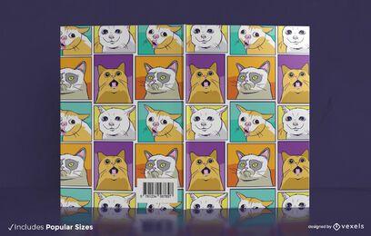 Diseño de portada de libro de memes de gato