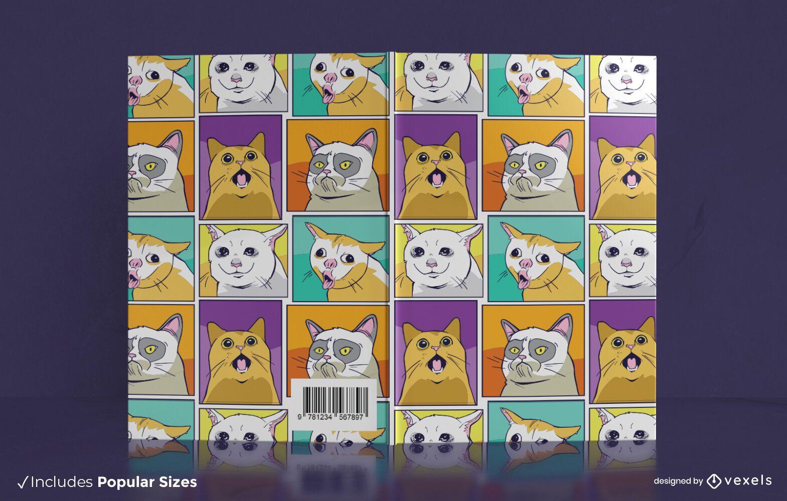 Design da capa do livro dos memes do gato