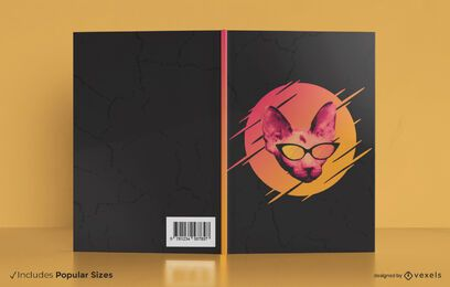 Sunglasses cat book cover design