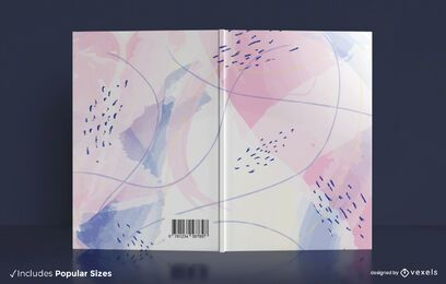 Desenho da capa do livro em aquarela pastel