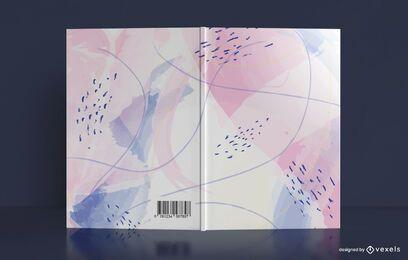 Diseño de portada de libro pastel acuarela