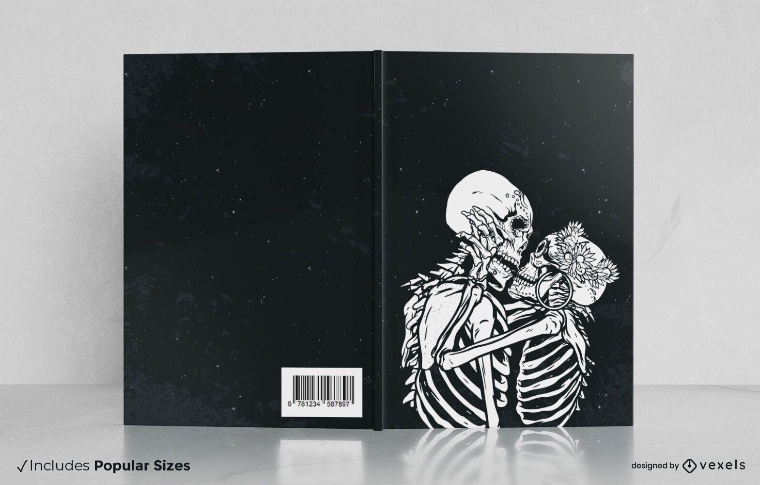 Skeleton kiss book cover design
