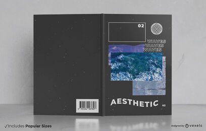 Ästhetisches Dampfwellen-Buchcover-Design