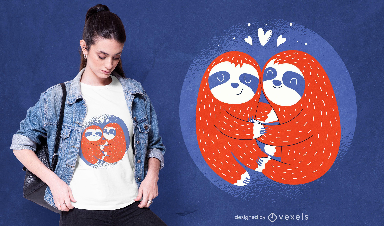 Valentine's sloths t-shirt design