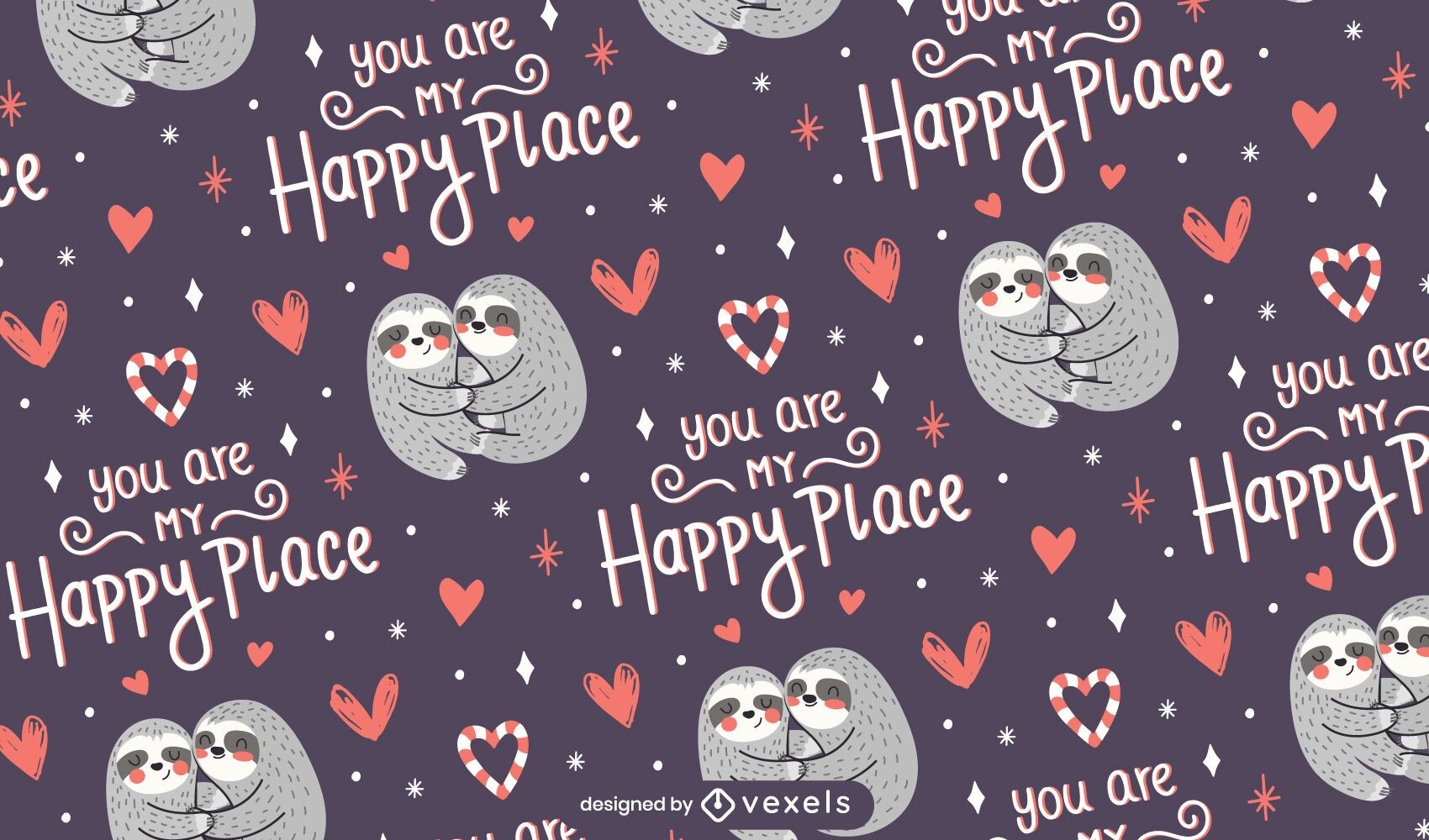 My happy place pattern design