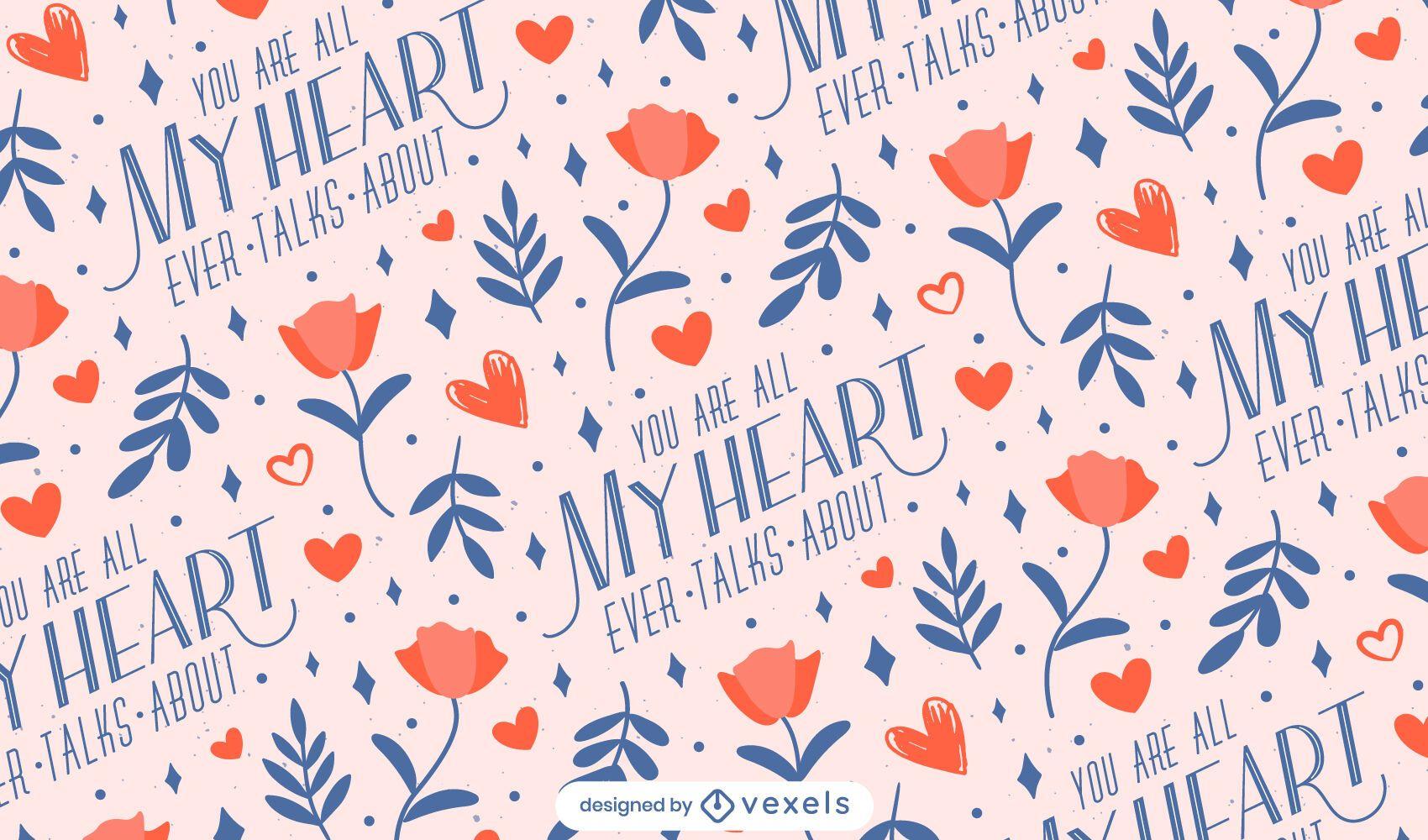 My heart valentine's day pattern design