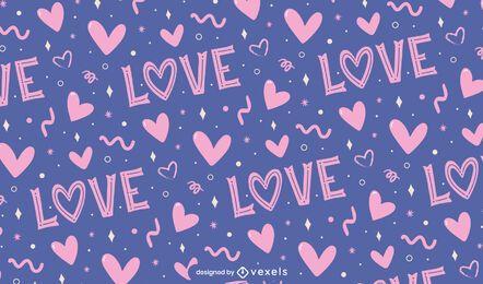 Liebe Valentinstag Musterentwurf