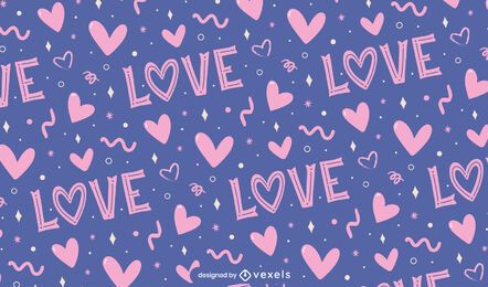 Love valentine's day pattern design