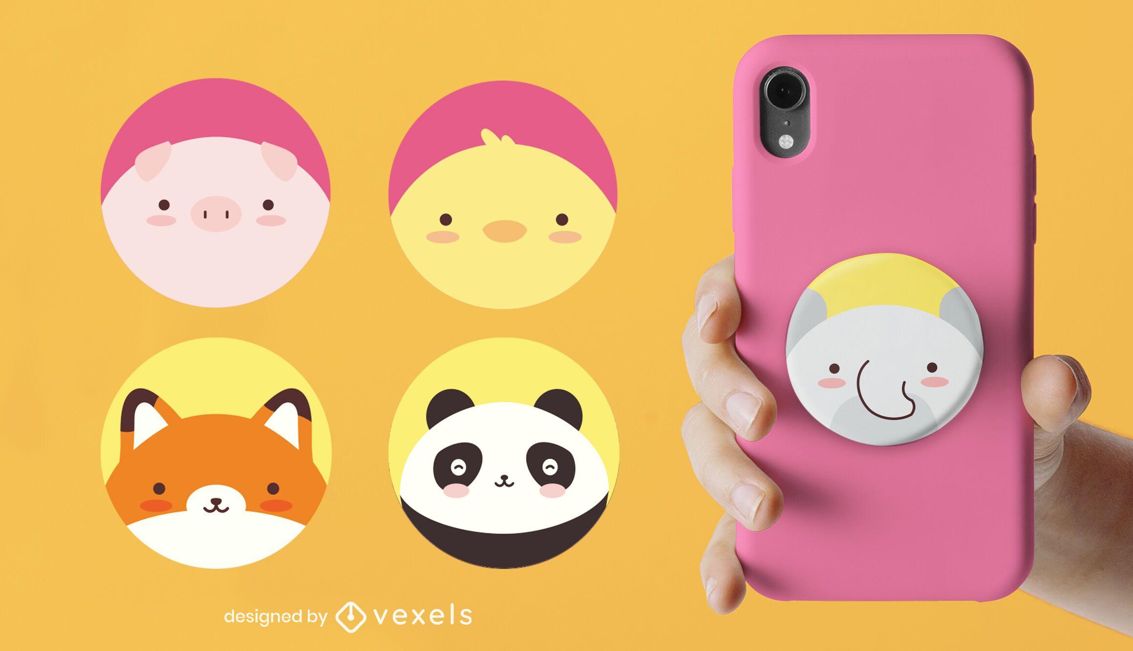 Cute animals popsocket set