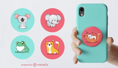 Baby animals popsocket set