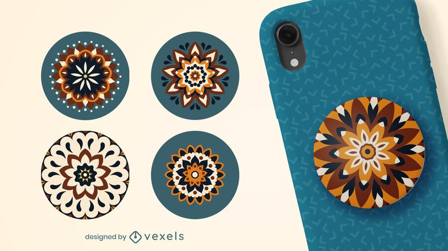 Tribal mandalas popsocket set