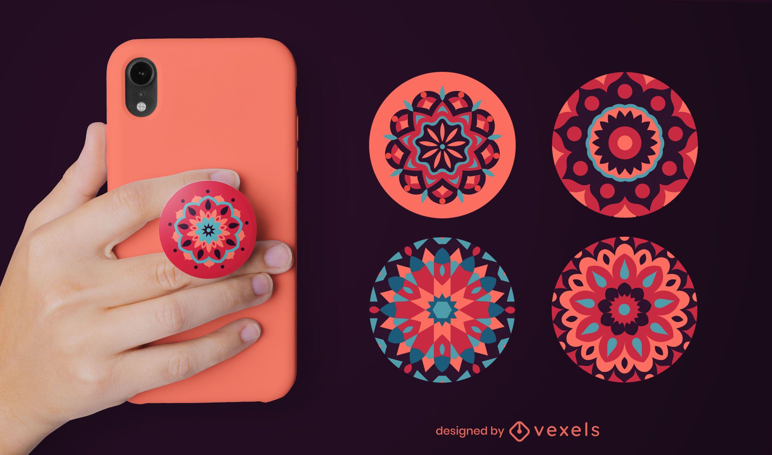 Mandala flores popsocket set