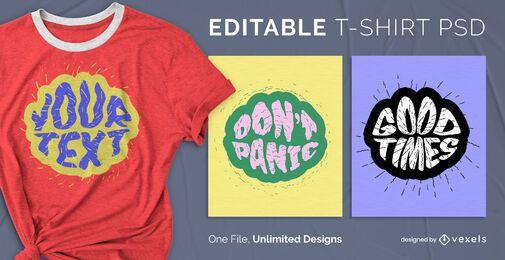 Diseño de psd de camiseta de burbuja de texto