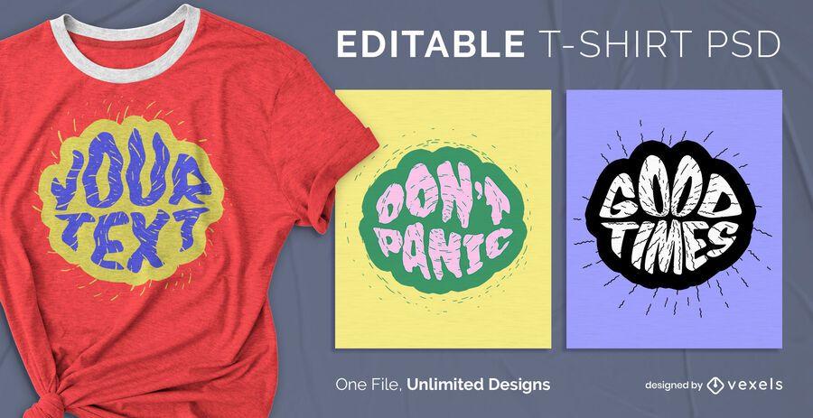 Text bubble t-shirt psd design