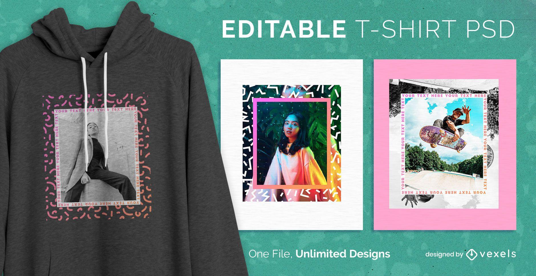 Frame t-shirt design psd