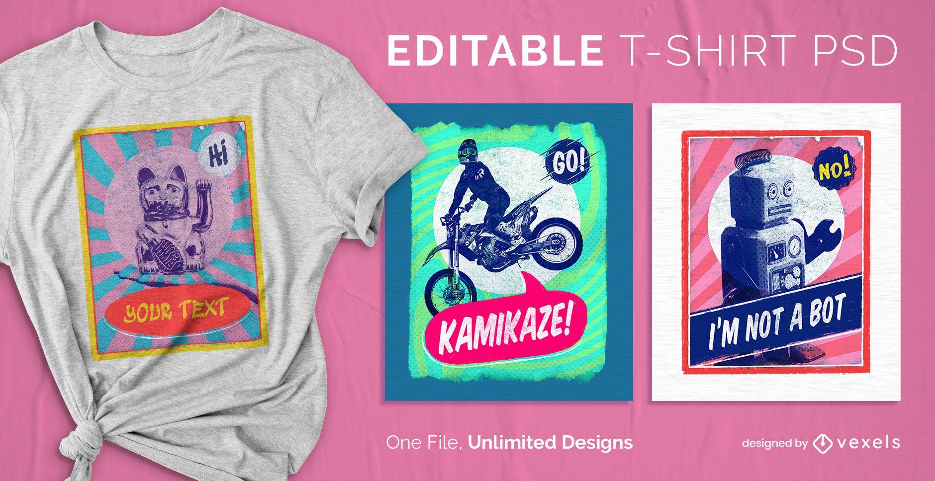 Poster scalable t-shirt psd