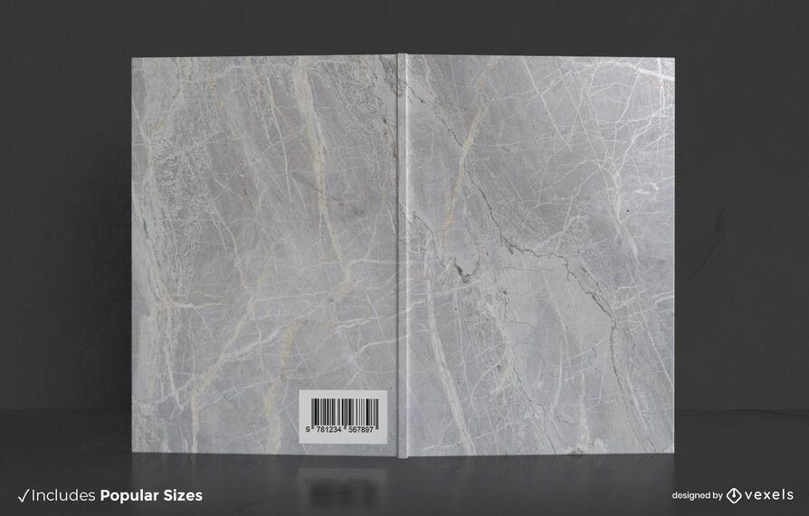 Design da capa do livro em mármore