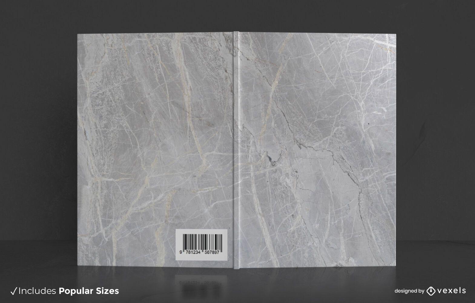 Diseño de portada de libro de mármol