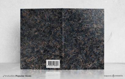 Diseño de portada de libro de mármol negro
