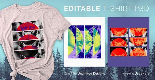 Diseño de camiseta rectangular psd