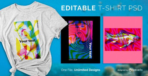 Diseño de camiseta de saturación PSD