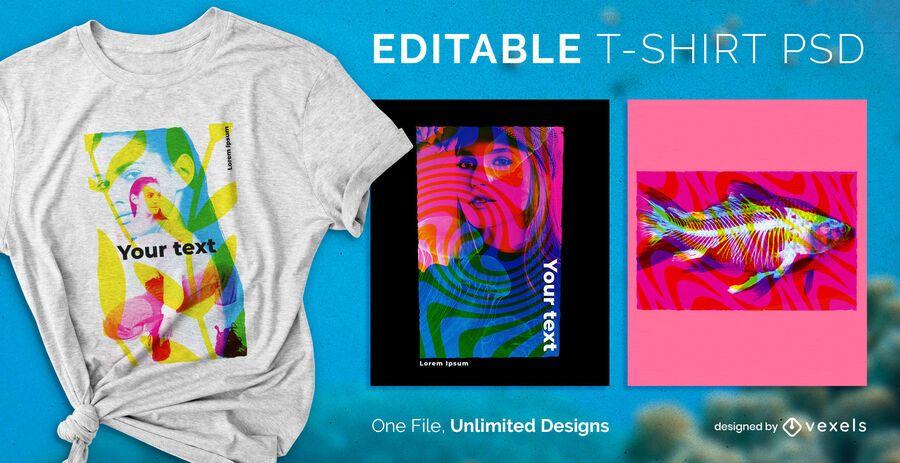 Design de t-shirt saturação PSD