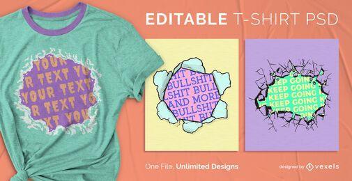 Hole scalable t-shirt psd