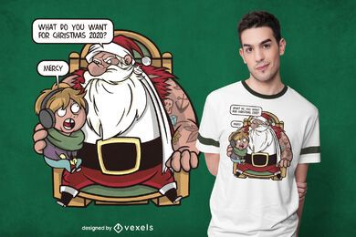 Diseño de camiseta navideña misericordiosa