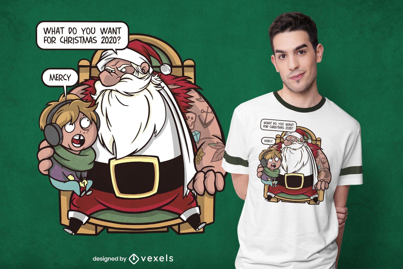 Merciful christmas t-shirt design
