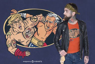 Trump biden wrestling t-shirt design