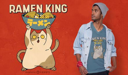 Design de camiseta Ramen King
