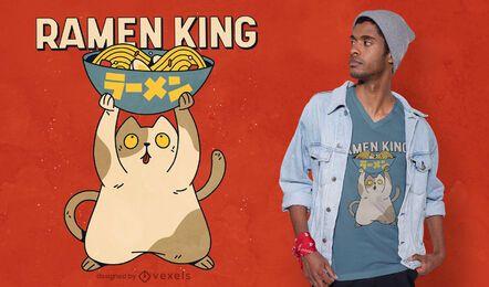 Diseño de camiseta Ramen King