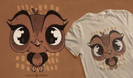 Diseño de camiseta de búho bebé