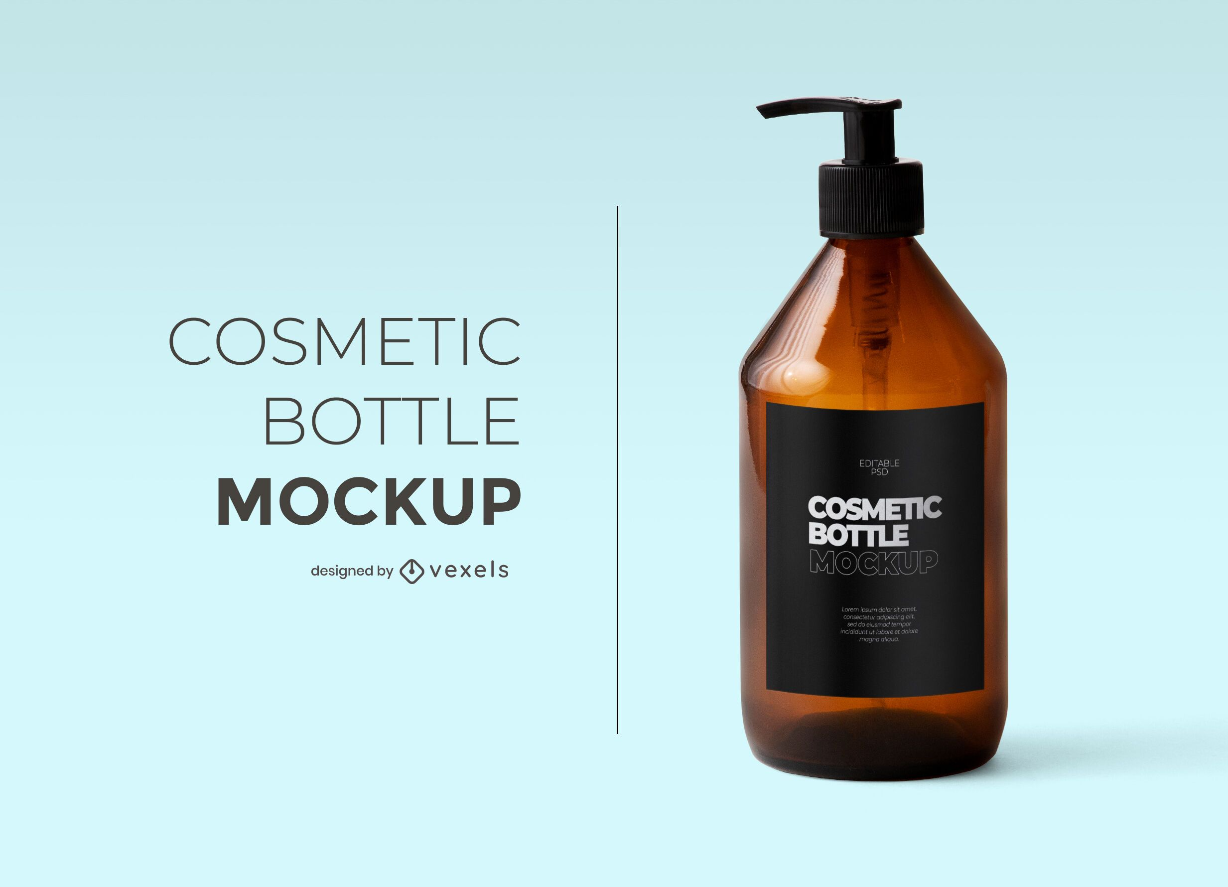 Cosmetic bottle mockup design