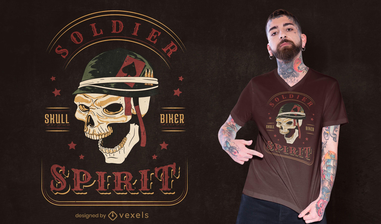 Skull soldier t-shirt design