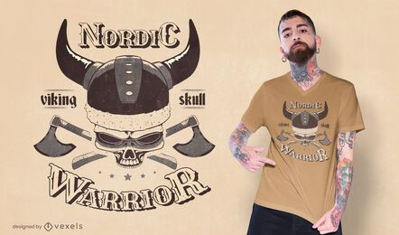 Skull viking t-shirt design