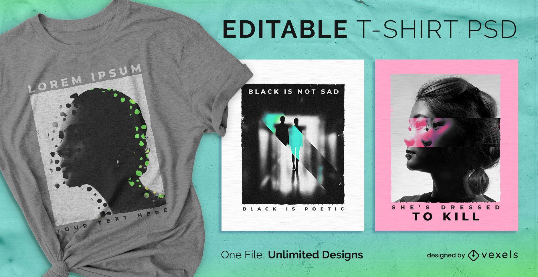 Duplicate scalable t-shirt psd