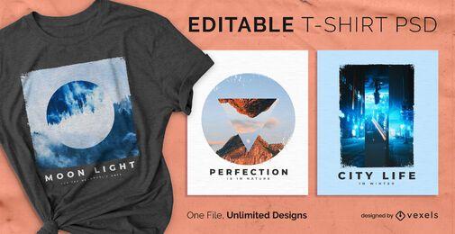 Invertiertes skalierbares T-Shirt psd